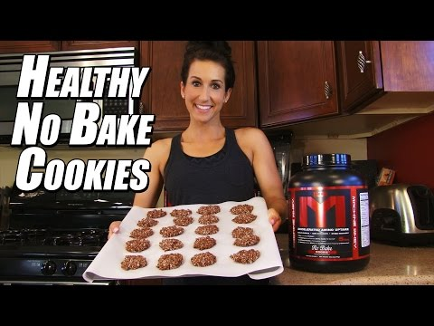 How to Make HIGH PROTEIN No-Bake Cookies! | Cooking with Kara