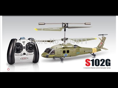 How to fly RC helicopter S102 gyro 3 channels