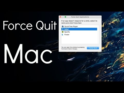 Force Quit Applications on a MacBook