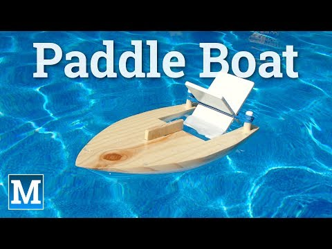 How to Make a Rubber Band Paddle Boat