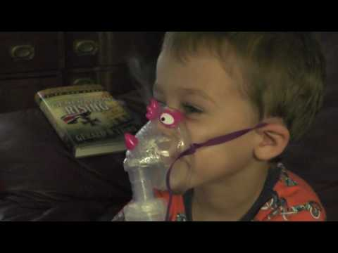 My boy doing a breathing treatment