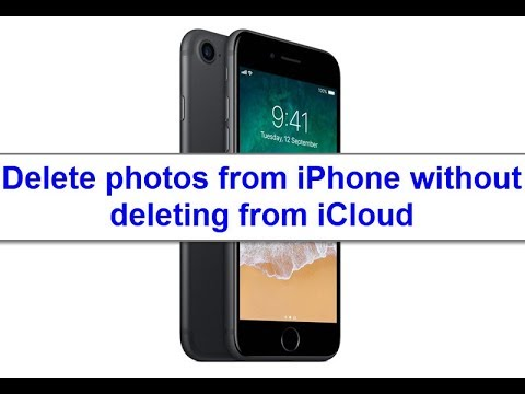 How to delete photos from iPhone without deleting from iCloud? here's the way