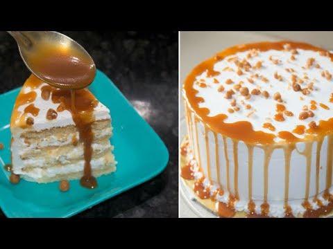 Easy To Make Butterscotch Cake Recipe | Desi Zaiqa