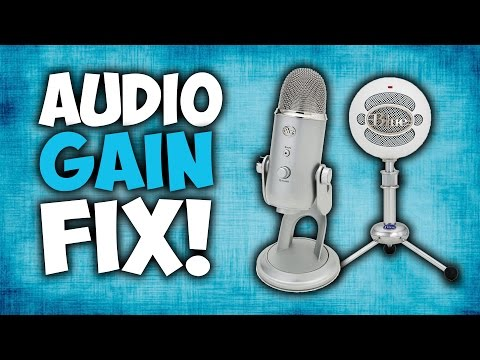 BLUE Microphones Audio FIX! [Recording Volume Too Low! // Blue Yeti/Snowball]