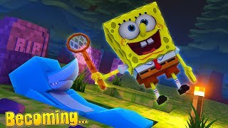 HOW TO BECOME SPONGEBOB SQUARE PANTS !!! Minecraft w/ Littke Kelly and Sharky