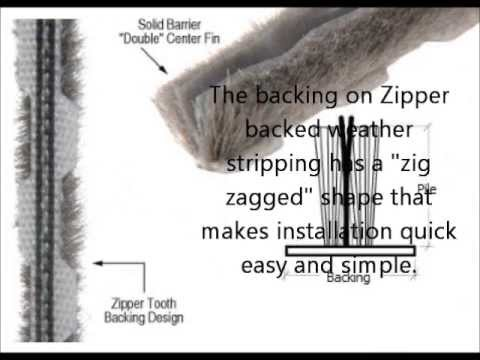 How to install Zipper Backed Weather Stripping in Sliding Patio Doors and Windows