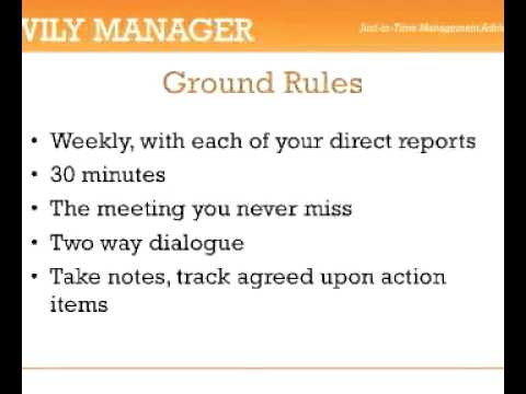 One on One Meetings - A 3-Minute Crash Course