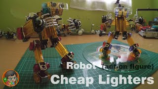 How To Make A Robot  (Action Figure) Out Of Cheap Lighters - Step by Step