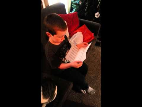 PJ gets a letter from Santa