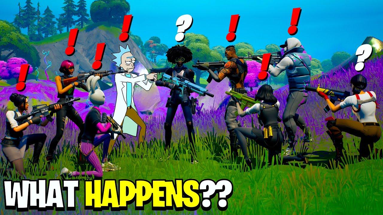 What Happens if ALL 17 Bosses Meet in Fortnite Season 7!
