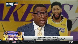 FIRST THINGS FIRST | Cris Carter react to Lakers favorite to win NBA title after acquiring AD