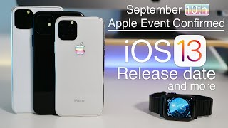 September 2019 iPhone 11 Event, iOS 13 Release date, iOS 13.1 update and more