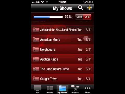 Virgin TV Anywhere App iPhone / iTouch