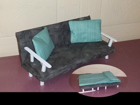 How to make a Doll Convertible Couch Bed
