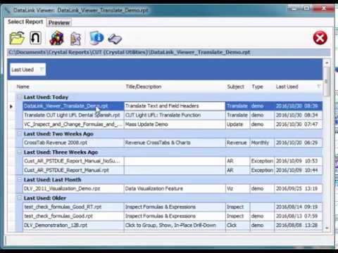 Crystal Reports Language Translation (DataLink Viewer or CUT Light)