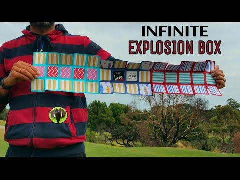 Infinite | Never Ending Explosion Cube Box Card - DIY Tutorial - 901
