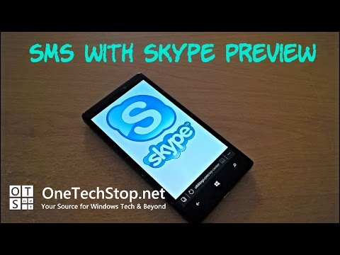 Send SMS Messages With Skype Preview on Windows 10