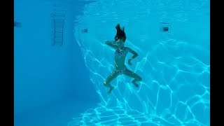 Carla Underwater - Swimming underwater in a 15 feet deep pool