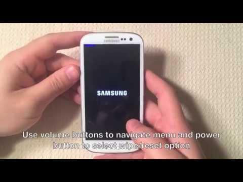 Samsung Galaxy S3 Hard Reset / Factory Reset