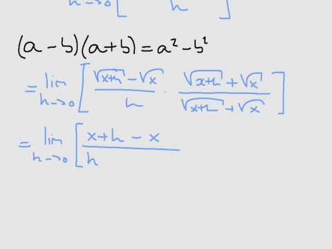 differentiating the square root function from first principles