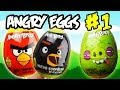 Angry Birds Funny Series Angry Eggs 1 Kinder Surprise Egg To