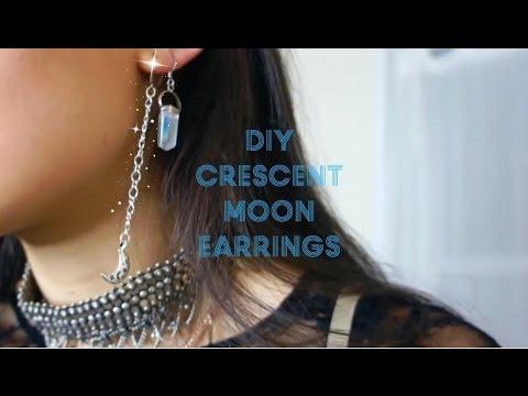 DIY CRESCENT MOON EARRINGS