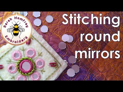 Hand Embroidery - Shisha Stitch Mirror Work tutorial - Part 1