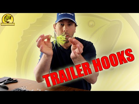 How to put a trailer hook on a spinner bait