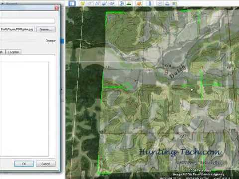 Topographic Map Overlay In Google Earth