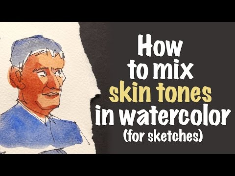 How to Mix Skin Tones in Watercolor for Sketches