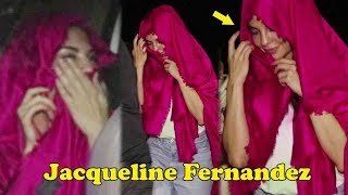 Jacqueline Fernandez HIDE FACE & Travel Like A Comman Individual In Versova Jetty To Madh Island