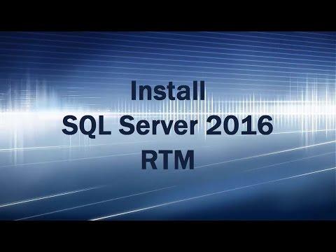 Install SQL Server 2016 RTM