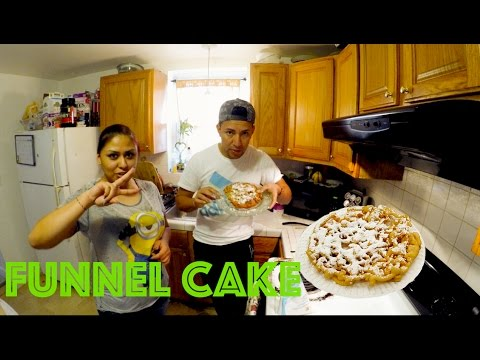 How to make funnel cakes, Como Hacer funnel cakes