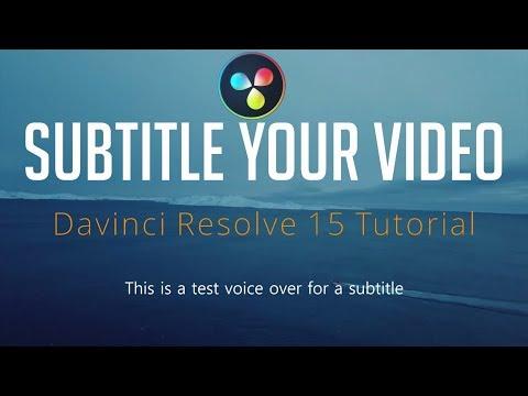 Create Video Subtitles (.SRT or Burn in Video) - DaVinci Resolve 15 Tutorial
