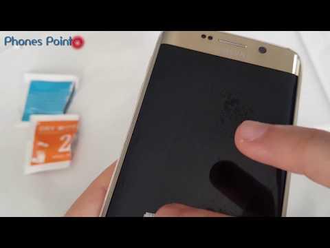 Samsung S6 edge tempered glass apply