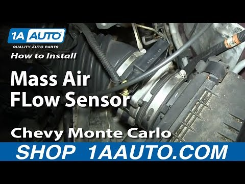 How To Install Replace Mass Air FLow Sensor 3.4L Chevy Monte Carlo