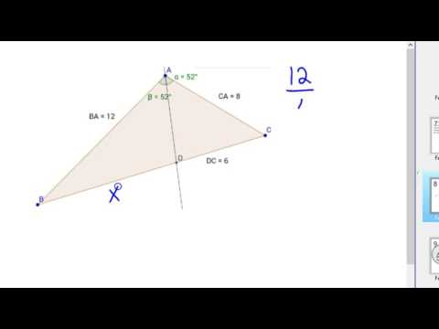 How to use the Triangle Angle Bisector Theorem