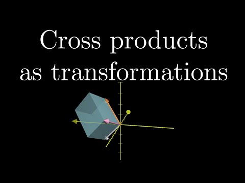 Cross products in the light of linear transformations | Essence of linear algebra chapter 8 part 2