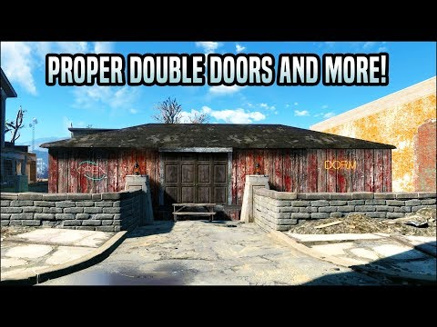 How to Build Double Doors and More! 🚪 Fallout 4 No Mods Shop Class