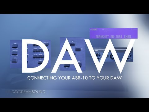 Connecting Your ASR 10 To Your DAW MIDI Drum Machine