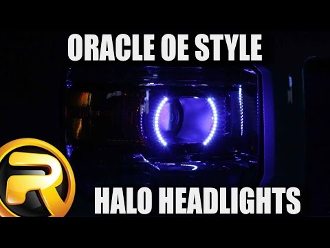 How to Install Oracle LED Headlight Halo Kit Color Shift on a 2014 GMC Sierra