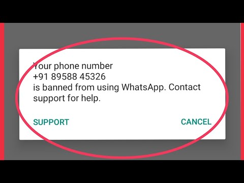 How To Fix WhatsApp Banned Number Problem Solve