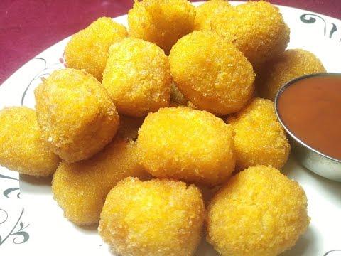 Crispy Potato Cheese Nuggets II Veg Nuggets II Easy Starter Recipe II Potato Cheese Balls