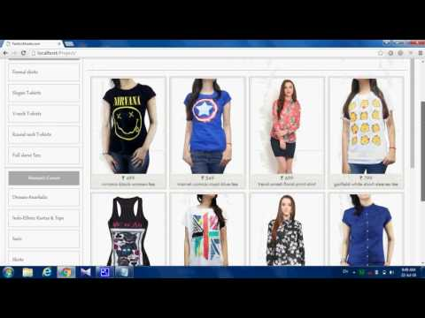 ONLINE CLOTH SHOPPING USING PHP WITH MYSQL
