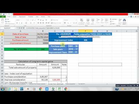 How to calculate Income from capital Gain by using Excel Formula (DATEDIF) New formula