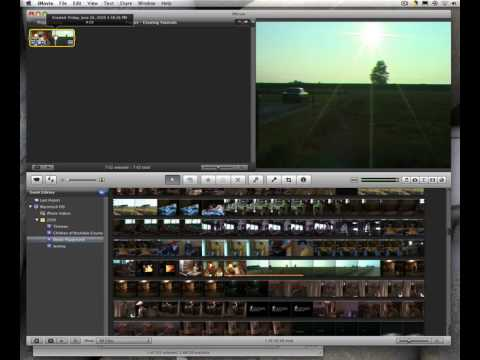 iMovie 09 - Adding and trimming clips