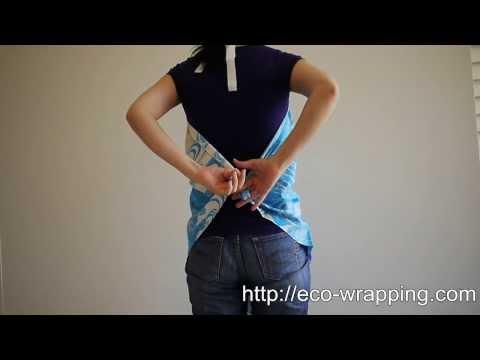 How to make easy apron with Furoshiki cloth