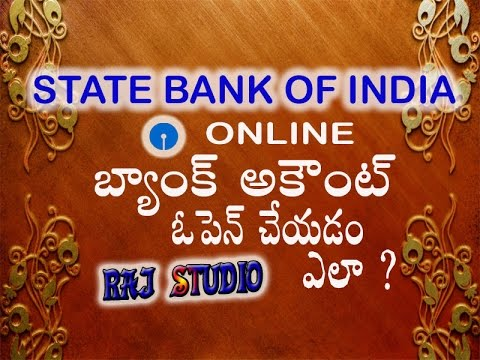 HOW TO APPLY ONLINE SBI SAVING ACCOUNT  IN TELUGU