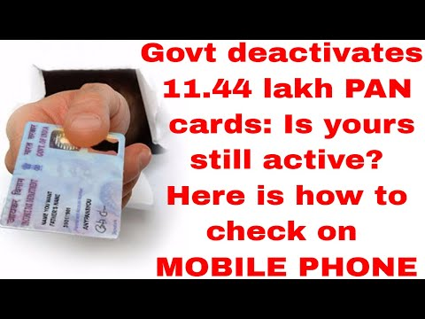 Govt deactivates 11.44 lakh PAN cards: Is yours still active? Here is how to check on YOUR MOBILE ||