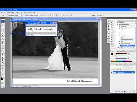 How to Add Your Logo and Resize Photos in Photoshop Automatically with Actions!